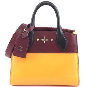 Louis Vuitton City Steamer Satchel Cross Body Bag